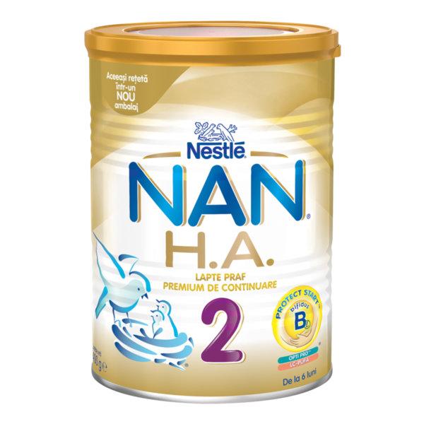 Nestle НАН  Хипоалергенно адаптирано мляко за бебета 2 /Н.А./ 6м+
